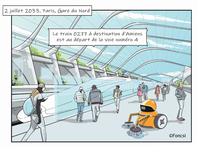 « Juillet 2033, Gare du Nord… »