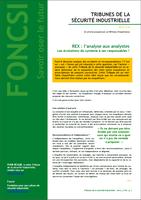 REX : l'analyse aux analystes